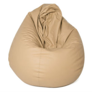Image of a cream bean bag