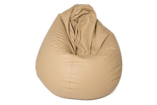 Image of a cream bean bag