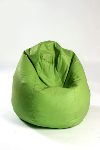Image of a olive green bean bag