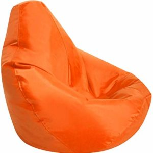 Image of an orange bean bag
