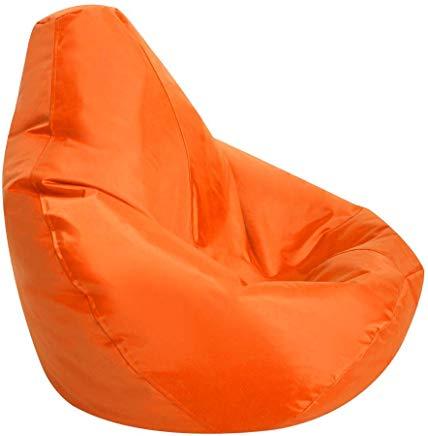 Image of an orange bean bag