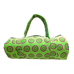 Lime green rolled picnic blanket